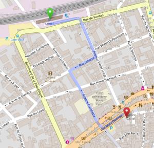 Trajet Gare - Espace Castel